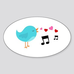 Singing Blue Bird Sticker