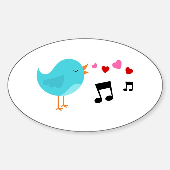 Singing Blue Bird Decal