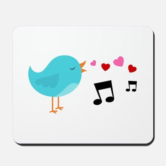 Singing Blue Bird Mousepad