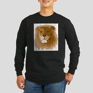 Realistic Lion Long Sleeve T-Shirt