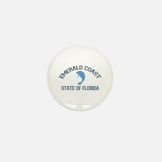 Emerald Coast - Manatee Design. Mini Button