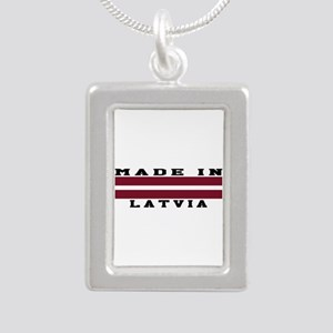 Latvia Made In Silver Portrait Necklace
