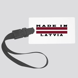 Latvia Made In Large Luggage Tag