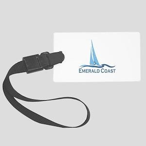 Emerald Coast - Sailing Design. Large Luggage Tag