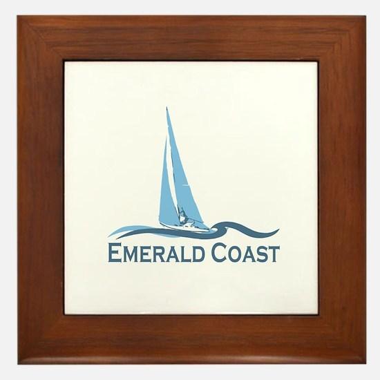 Emerald Coast - Sailing Design. Framed Tile