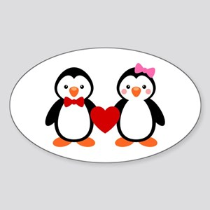 Cute Penguin Couple Sticker
