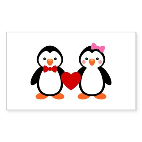Cute Penguin Couple Sticker