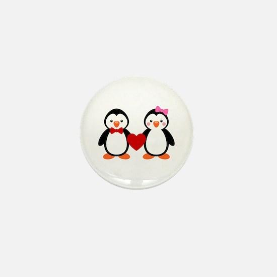 Cute Penguin Couple Mini Button (10 pack)