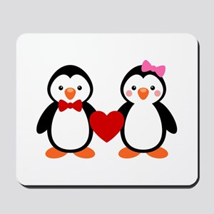 Cute Penguin Couple Mousepad