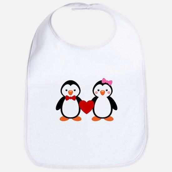 Cute Penguin Couple Bib
