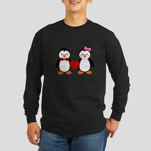 Cute Penguin Couple Long Sleeve T-Shirt