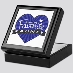 Favorite Aunt Blue Keepsake Box
