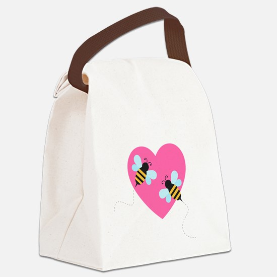Cute Honey Bees Canvas Lunch Bag