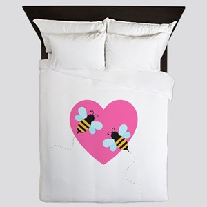 Cute Honey Bees Queen Duvet