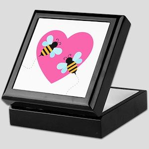 Cute Honey Bees Keepsake Box