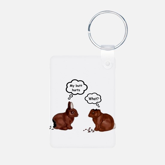 My Butt Hurts Funny Bunnies T-Shirt Keychains