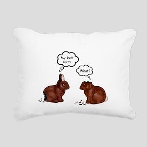 My Butt Hurts Funny Bunnies T-Shirt Rectangular Ca