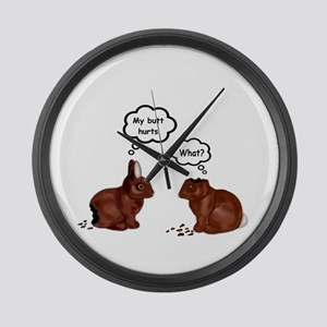 My Butt Hurts Funny Bunnies T-Shirt Large Wall Clo