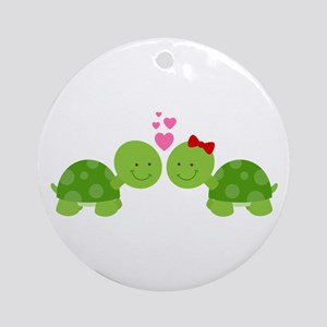 Turtles in Love Ornament (Round)