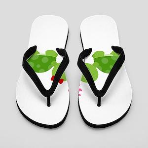 Turtles in Love Flip Flops