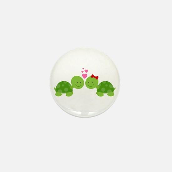 Turtles in Love Mini Button