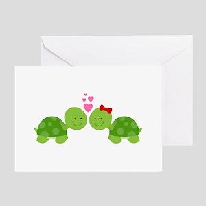 Turtles in Love Greeting Card