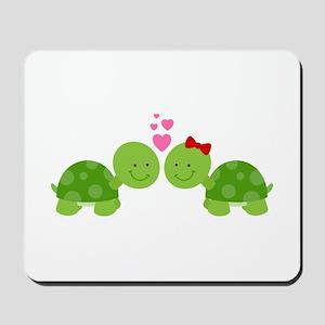 Turtles in Love Mousepad