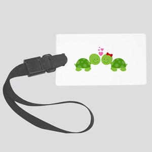 Turtles in Love Luggage Tag