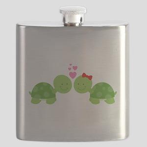 Turtles in Love Flask