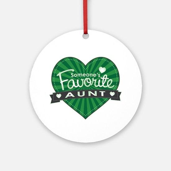 Favorite Aunt Green Ornament (Round)