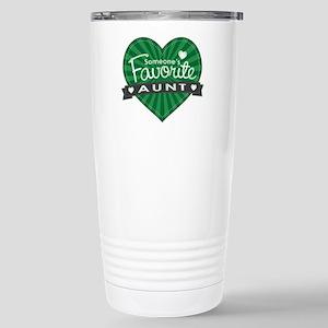 Favorite Aunt Green Stainless Steel Travel Mug