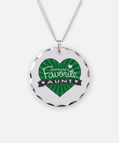 Favorite Aunt Green Necklace