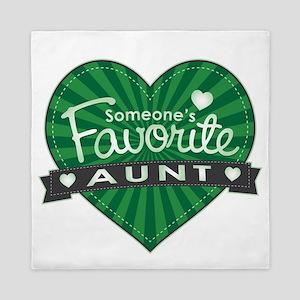 Favorite Aunt Green Queen Duvet