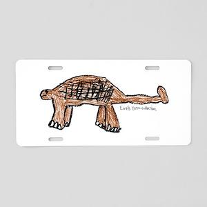 Ankylosaurus Aluminum License Plate