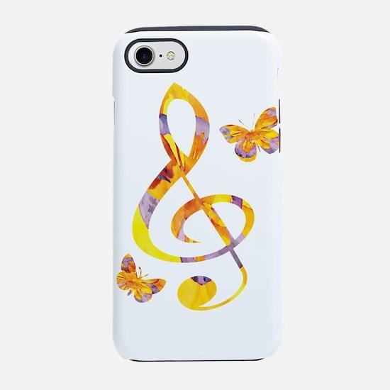Modern watercolor treble clef iPhone 7 Tough Case