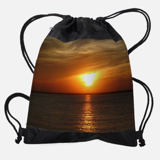 LBI Sunset 2 sp.jpg Drawstring Bag