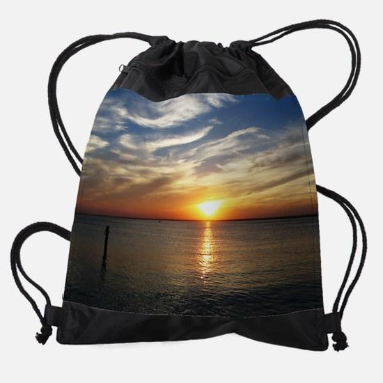 LBI Sunset 1 sp.jpg Drawstring Bag