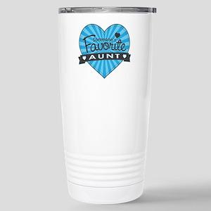 Favorite Aunt Blue Stainless Steel Travel Mug