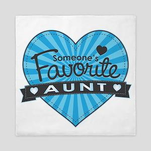 Favorite Aunt Blue Queen Duvet