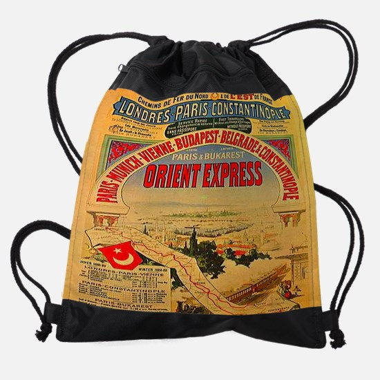 Orient Express Drawstring Bag
