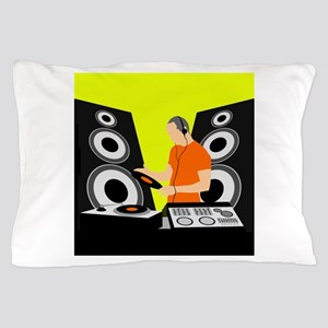 Turntable DJ with Speakers Pillow Case