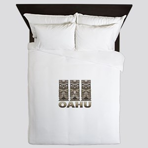 Oahu Tiki Queen Duvet