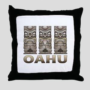 Oahu Tiki Throw Pillow