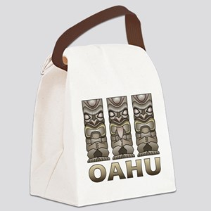 Oahu Tiki Canvas Lunch Bag