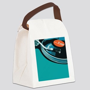 Turntable Vinyl DJ Canvas Lunch Bag