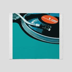 Turntable Vinyl DJ Throw Blanket