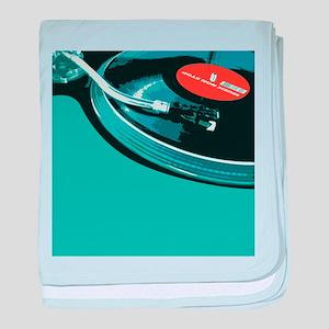 Turntable Vinyl DJ baby blanket