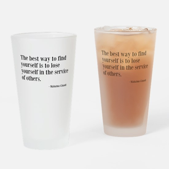 Find Yourself Drinking Glass