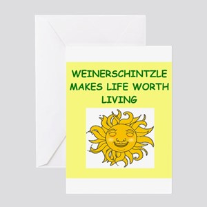 SCHNITZLE Greeting Card