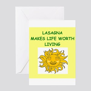 LASAGNA Greeting Card